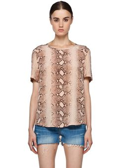 EQUIPMENT Riley Python Tee in Nude at Revolve Clothing - Free Shipping!