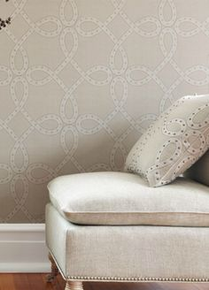 anna french is another company for wallpaper. Salina Ribbon wallpaper from Anna French My Home Design, Interior Design Studio, House Design, Anna French, Cozy Basement, Beach Design, Bathroom Design Small, Mocca, Fabric Wallpaper