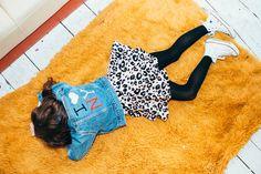 SiD NYC: vintage I LOVE NY Levis denim jacket with KITTY animal print dress #sidnyc #vintagedenim #kidsfashion #handmade #levis #denim #embroidery #animalprint #kidsdresses #dress #kids #pink #leopard