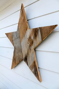 Reclaimed Wood Star Sign Rustic Outline By ATXFrontporch