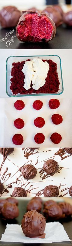 Quick and Easy Valentines Day Red Velvet Truffles- Makes the perfect dessert for two!