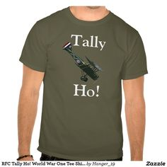 RFC Tally Ho! World War One Tee Shirt