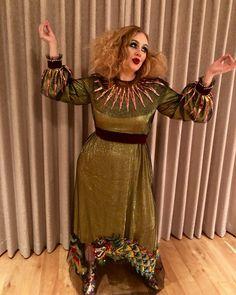Adele et son déguisement d'Halloween