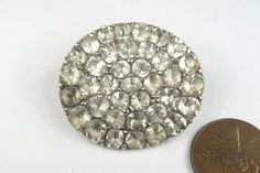 ANTIQUE GEORGIAN PERIOD ENGLISH SILVER FOILED PASTE CLUSTER BROOCH c1780 in Jewelry & Watches, Vintage & Antique Jewelry, Fine   eBay!