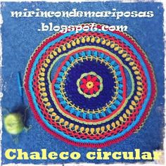 mi rincón de mariposas: Circular vest (with chart)