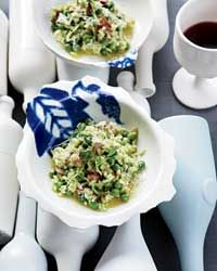 Pea-and-Bacon Risotto Recipe on Food & Wine