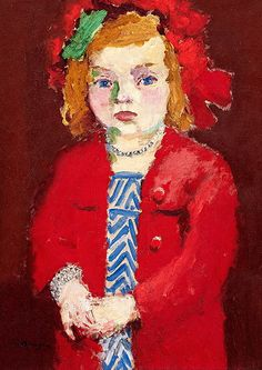 Kees van Dongen (Dutch, 1877-1968) : Dolly au Collier d'Argent/Dolly With Silver Necklace, 1909. [Artist's daughter]