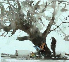 Joseph Zbukvic of Liu Yi #watercolor jd