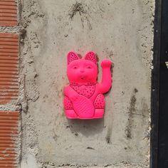 #Benicarló - #Spain . srmiau.com  #art #arttoy #popart #arte #artepop #street #streetart #arteurbano #streetnews #streetartanarchy #figure #benicarlo #castellon #wall #urbanart #neko #maneki #luckycat #manekineko #cats #gatos #españa #sculpture #design #diseño #cool #photo #pic #originalart #original #fluor #flúor #figure #cat #cats #gato #gatodelasuerte #gatos #fortunecat #cool #chic #top #beautiful #color #colorful #pink