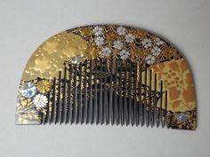 Vintage Hair Combs, Vintage Hair Accessories, Asian Hair Ornaments, Japanese Hairstyle, Japan Art, Japanese Design, Hair Jewelry, Hair Pieces, Tiara Hairstyles