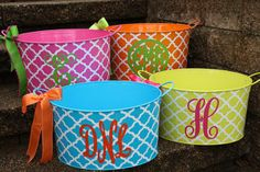 Personalized Metal Tub/ Ice Bucket Party by StudioFourDesigns