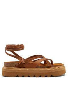 aea254dfd Wrap-around leather flatform sandals | See By Chloé | MATCHESFASHION.COM US