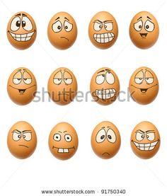 ksichtíky stock photo : set egg face