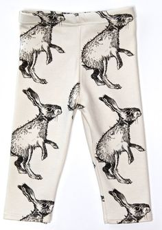 shaggy rabbit print leggings