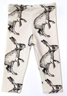 Salt City Emporium shaggy rabbit print children leggings