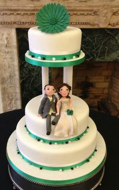 I love it when a couple take a classic cake and add a wee personal touch  Delivered to the Dunadry Hotel.