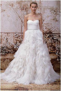 Princess wedding dress Monique Lhuillier 2014 Fall! BEAUTIFUL wedding dresses by her!