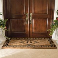 Personalized Front Door Mat Stenciles | Found On Frontgate.com