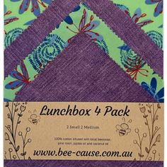 Handy Pack (Pack of Wax Wraps, Lilac, Purple, Biodegradable Products, Something To Do, Alternative, Bee, Packing, Bag Packaging