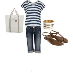 Nautically inspired, created by jaimebrink on Polyvore