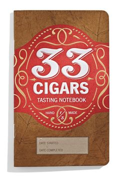 Cigar Tasting Journal, great idea.  Record what you had with your cigar and the flavor a you tasted.  Great reference guide
