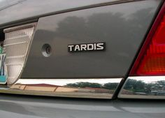 TARDIS Custom Car Emblem - I'd almost buy a car to have one of these!