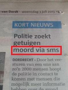 Na de bombrief nu ook de sms-moord ...
