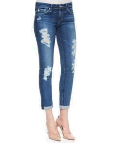 Stilt Roll-Up Skinny Jeans, 11-Year Journey, Size: 30, Blue - AG