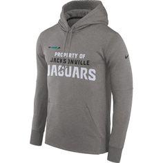 4144dc8d Nike Men's Jacksonville Jaguars Sideline 'Property Of' Therma-FIT Grey Logo  Hoodie
