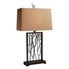 "Dimond Lighting Legacies Belvior Park 33"" H Table Lamp with Rectangular Shade Bulb Type:"