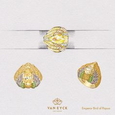 This ring is made of #love and 12.43g 18K Gold, 233 Pieces of Yellow Sapphire with total weight of 3.71ct, 108 Pieces of Lavender Sapphire with total weight of 0.78ct, 38 Pieces of Tsavorite Sapphire with total weight of 0.33ct and 1 Piece of Pink Sapphire with total weight of 0.003ct. The Center Diamond is a Pear Shape 4.23ct Fancy Brownish Yellow..   #vaneyckjewelry #gemstone #drawing #infinity