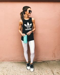 workout tank and leggings