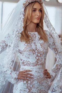 #BERTA Milano beauty from BERTA #NYC Muslim Wedding Dresses, Dream Wedding Dresses, Bridesmaid Dresses, Gorgeous Wedding Dress, Lace Wedding, Wedding Hair, Wedding Ring, Wedding Decor, Wedding Ideas