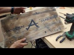 Making a Rustic, Distressed, Vintage Wood Sign (version Vintage Wood Signs, Distressed Wood Signs, Rustic Wood Signs, Wooden Signs, Distressed Furniture Painting, Paint Furniture, Transfer Images To Wood, Driftwood Stain, Christmas Signs Wood