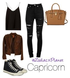 """Capricorn"" by orthcecilia on Polyvore featuring Massimo Dutti, Tory Burch, Yves Saint Laurent, Converse and MICHAEL Michael Kors"