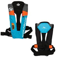Stearns 1493 A-M - 33g Auto-Manual Inflatable PFD - Blue-Orange-Grey [2000013886]