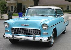 1955 Chevrolet Bel Air Coupe - My old classic car collection Chevrolet Bel Air, 1955 Chevy Bel Air, 1955 Chevrolet, Chevrolet Malibu, Chevrolet Corvette, Chevy Tattoo, Classy Cars, Classic Chevrolet, Best Muscle Cars