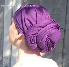 как завязать красивый шарф на голове