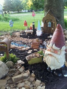 My gnome village! | Fun pics! | Pinterest | Gnome village, Gardens on