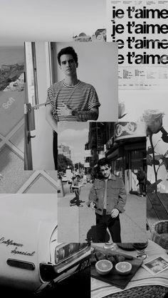 ✨Brendon Urie//Black & White Wallpaper//Tumblr✨