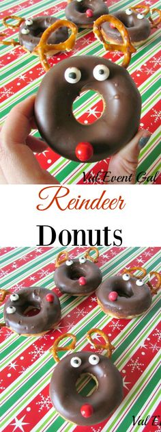 Donuts Reindeer Donuts are the perfect holiday breakfast recipe that the kiddos will love!:Reindeer Donuts are the perfect holiday breakfast recipe that the kiddos will love! Christmas Donuts, Christmas Snacks, Christmas Brunch, Christmas Goodies, Holiday Treats, Holiday Recipes, Holiday Fun, Christmas Holidays, Holiday Foods