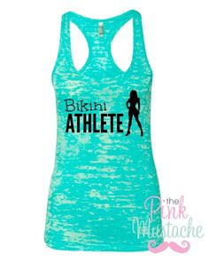 Bikini Athlete Burnout Tank / Fitness Tank / Bikini Competitor Tanke