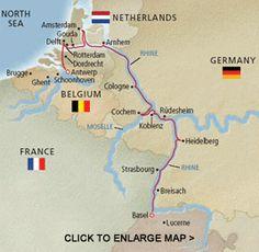 Rhine River Europe Map