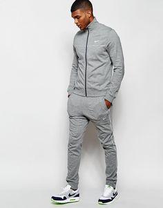 Buy Nike Crusader Tracksuit Set at ASOS. Get the latest trends with ASOS now. Jordan Outfits, Nike Outfits, Sport Outfits, Sport Fashion, Fitness Fashion, Mens Fashion, Nike Tracksuit, Grey Tracksuit Mens, Nike Clothes Mens