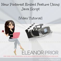 New Pinterest Embed Feature Using Java Script Video Tutorial in Blog Post