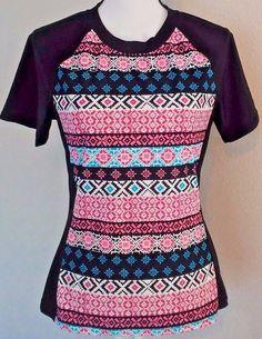 Ocean Avenue Swimwear Short Sleeve Rash Guard Top Size Large Womens Multi-Color  | Clothing, Shoes & Accessories, Women's Clothing, Swimwear | eBay!
