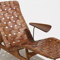 Arne Vodder, Rare chaise lounge, Bovirke, Denmark, c. 1950