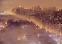 Manhattan in the fog - sehr inspirierender Anblick!