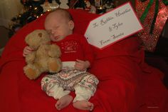 1st Christmas - love this photo idea!