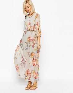 Image 1 of Vero Moda Floral Boho Maxi Dress